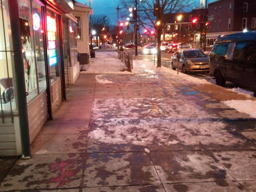 Inadequate snow removal in the Upshur Street commercial district