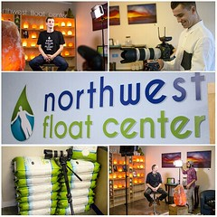 Promo shoot today for Northwest Float Center! Had a blast capturing the amazing people and location. Thanks for all the help @zwingfilms! #fun #video #film #setlife #tacoma #canon #panasonic #4k #just2guys
