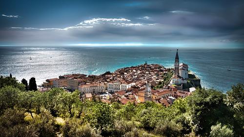 sea church town nikon meer medieval slovenia stadt piran hdr gegenlicht d800 oldvillage mittelalterlich greatphotographers tonalmappimg
