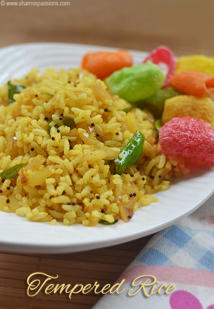 Tempered Rice Recipe