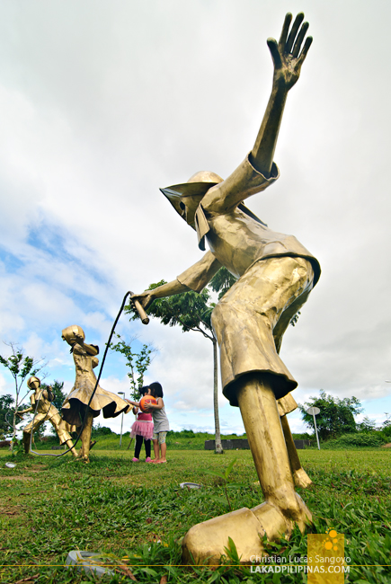 Bronze Sculpture at Nuvali in Santa Rosa, Laguna