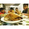 happy holidays! turkey dinner with la familia