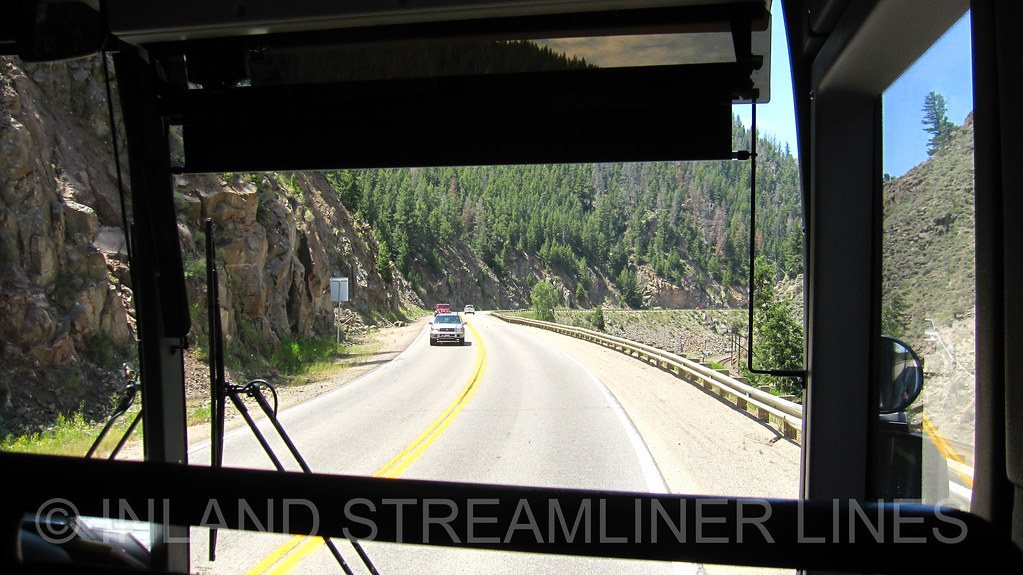 Greyhound through Byers Canyon | On X3-45 #86284: www flickr