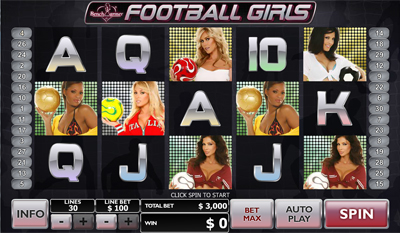 Play Benchwarmer Football Girls Slots Online at Casino.com Canada