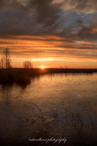 ice sunrise frost twente zonsopkomst engbertsdijksvenen kloosterhaar engbertsdijksevenen engbertsdijkse twenterand engbertdijkveen