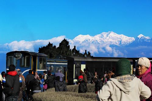 Toy train at Batashia Loop Darjeeling