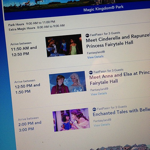 6:365 There will be one very excited little girl tomorrow morning... I snagged us Fastpasses to meet Anna & Elsa.