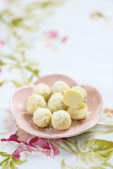 Truffes chocolat blanc citron vert