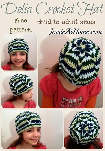 Delia Hat Free Crochet Pattern Jessie At Home