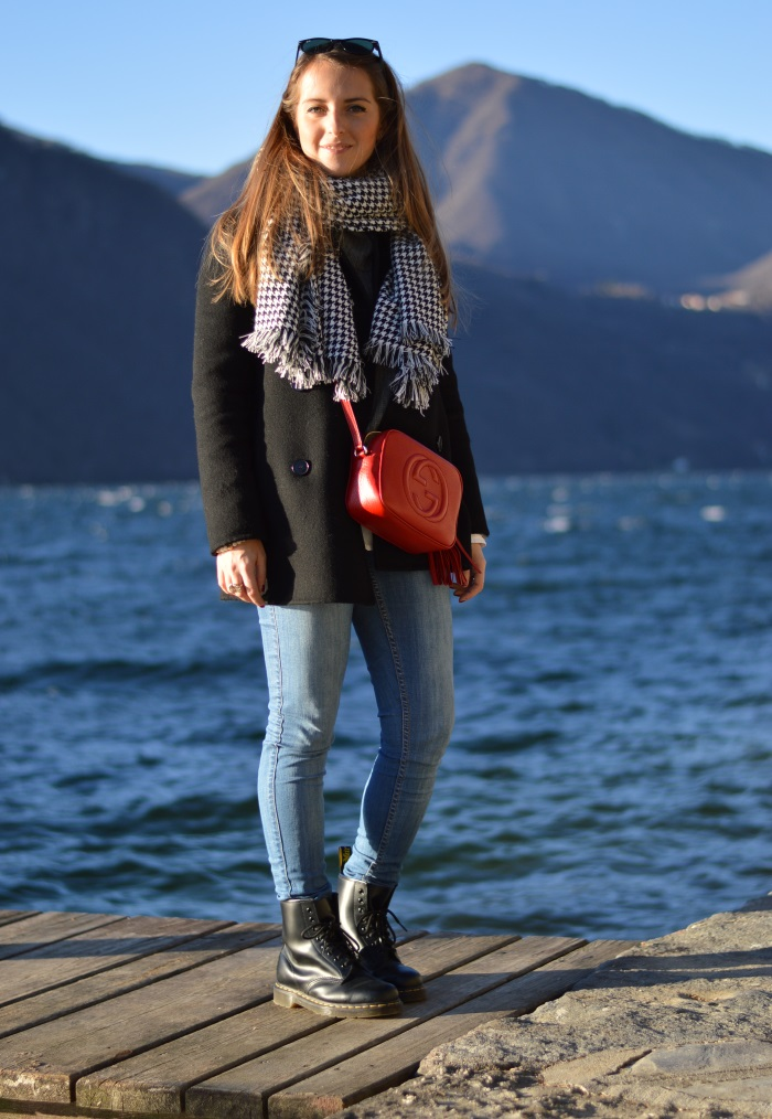 orta, piemonte, wildflower girl, lifestyle, cosa fare la domenica, look, outfit, Gucci, disco bag, pied-de-poule, blackfive, Benetton, Colombo (14)