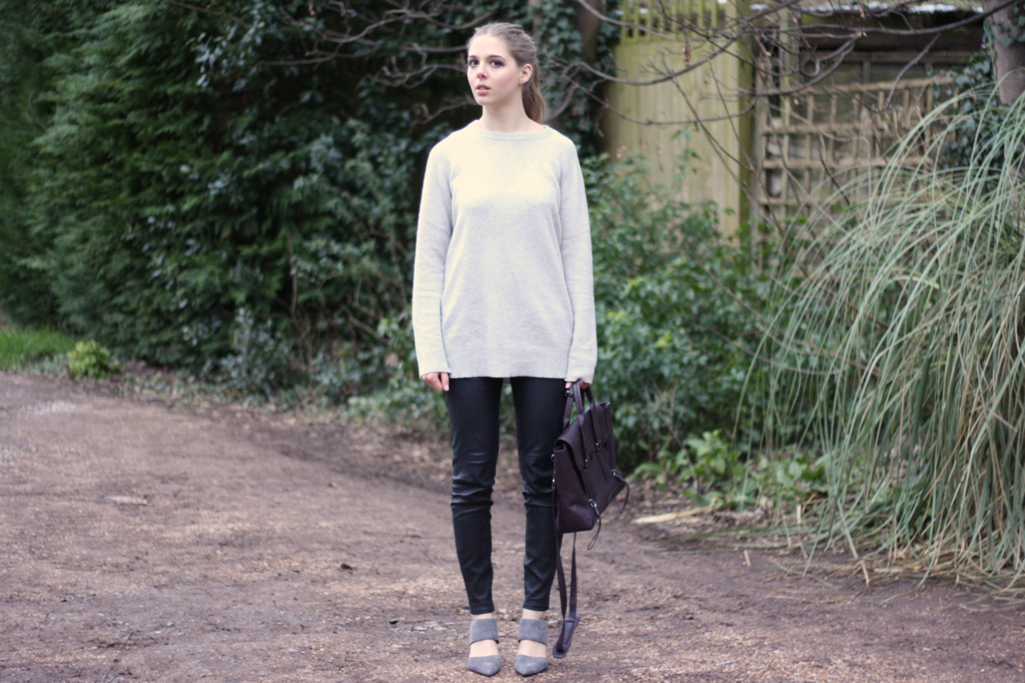 Zara grey cashmere jumper