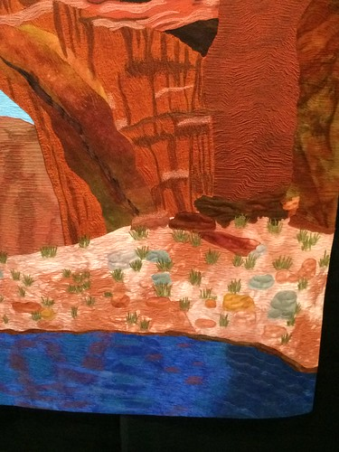"close up of ""Rainbow Bridge"" by Renee Gannon of Ukiah, CA"