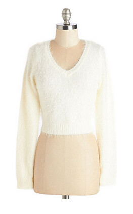 white modcloth sweater
