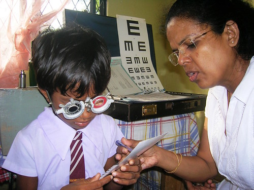 Getting the vision corrected allows children to read and learn