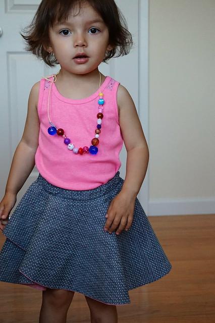 Crossover Flounce Skirt