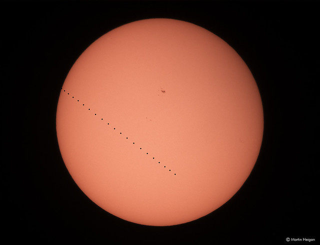 Mercury transit across the Sun