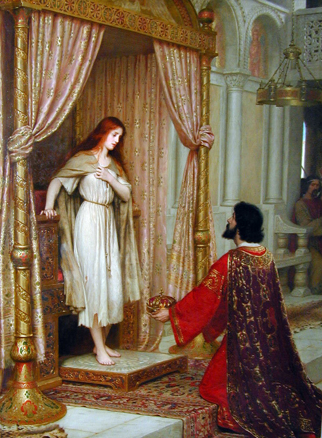 The King and the Beggar-maid by Edmund Blair Leighton