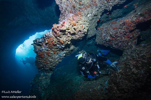 Diver Marine reserve Menorca