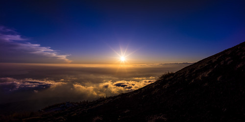 sunset sea panorama cloud japan mtfuji 富士山五合目 日没 雲海
