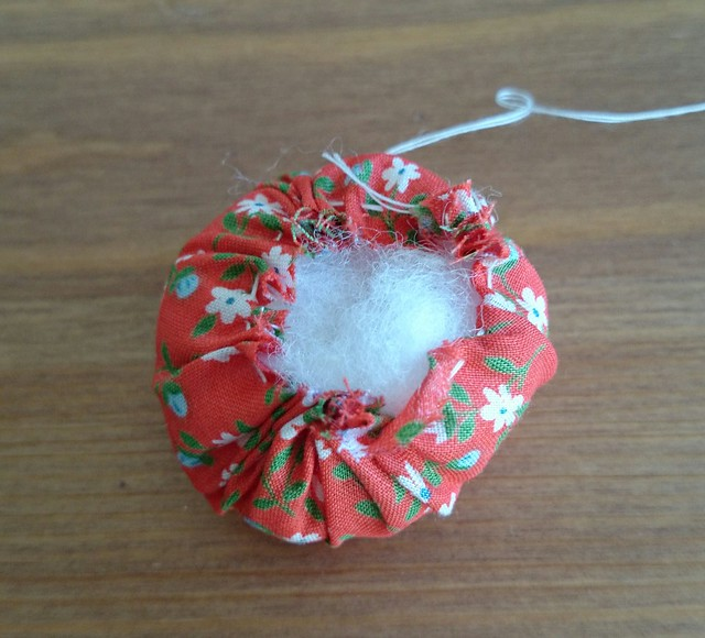 Bottle Top Pin Cushion In Progress