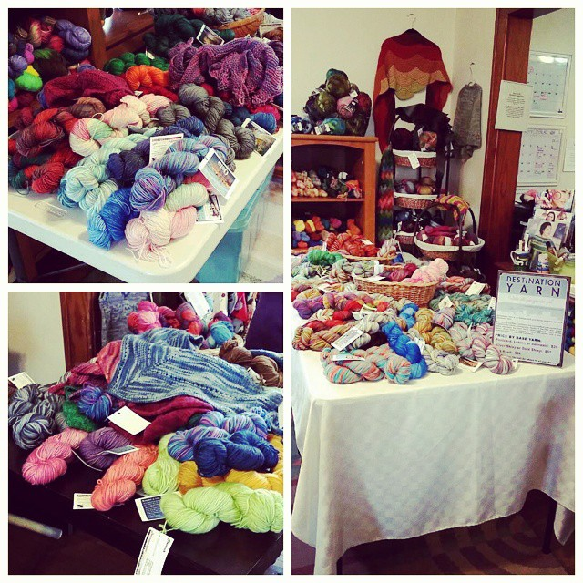 The piles are lower than they were this morning but there is still plenty of pretty here at Yarn Cravin'! #destinationyarn #indiedyer #yarn #handdyedyarn #knit #knitting