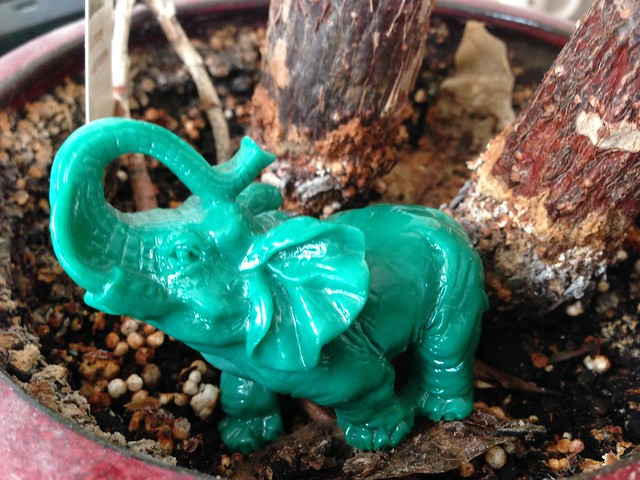 Traveling Green Elephant