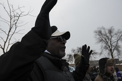 "Black Lives Matter protester: ""hands up, don't shoot"""