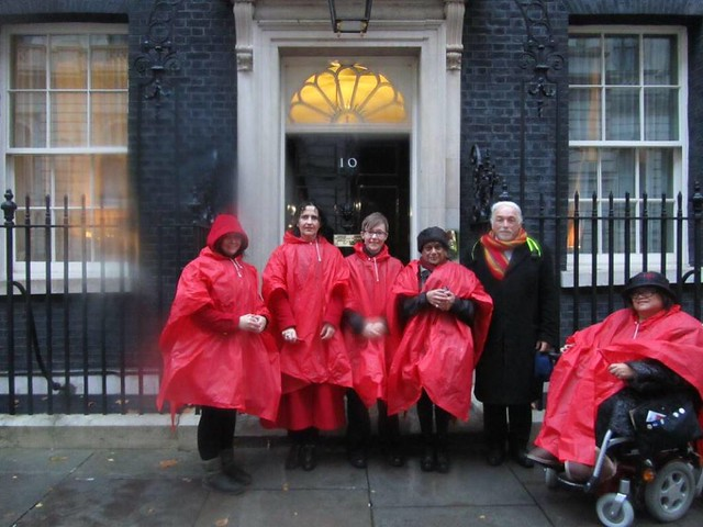 giving the petition at No10 Downing Street