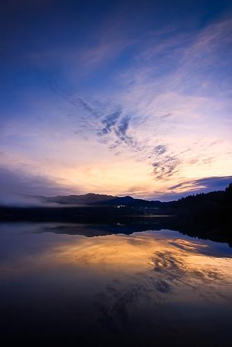sky lake water fog clouds sunrise landscape washington places clear whatcom 2014 lakepadden