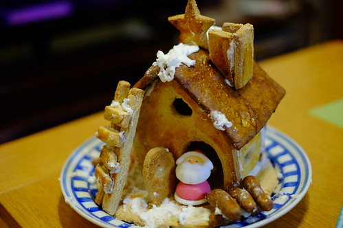 クリスマスイブのケーキは手作りお菓子の家