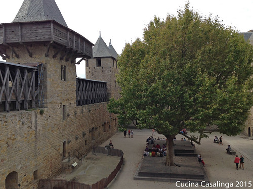 Carcassonne Burg Innenhof