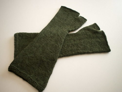 Olive Green Mitts