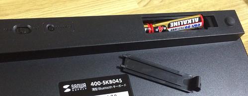 薄型Bluetoothキーボード 400-SBK045