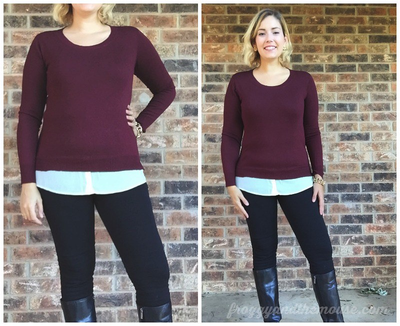 Market and Spruce Benzer Mixed Material Sweater Stitch Fix