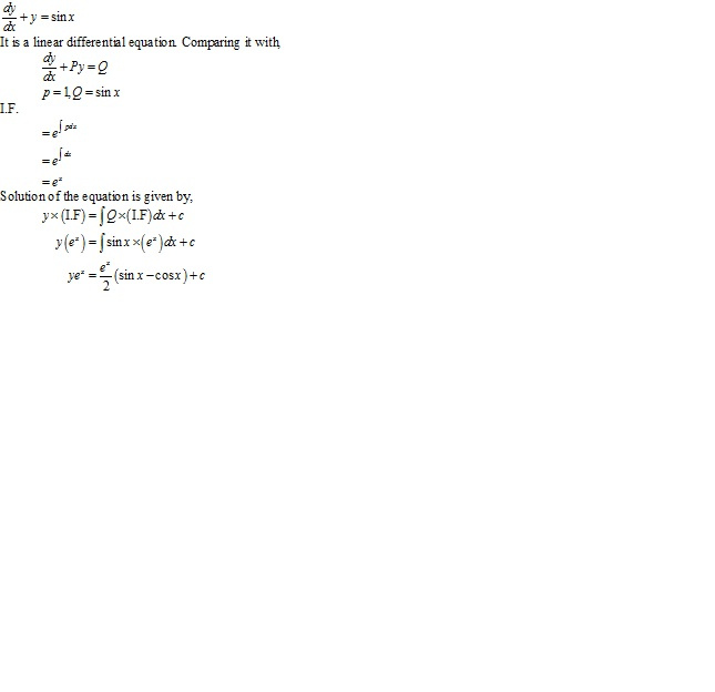 RD Sharma Class 12 Solutions Chapter 22 Differential Equations Ex 22.10 Q12