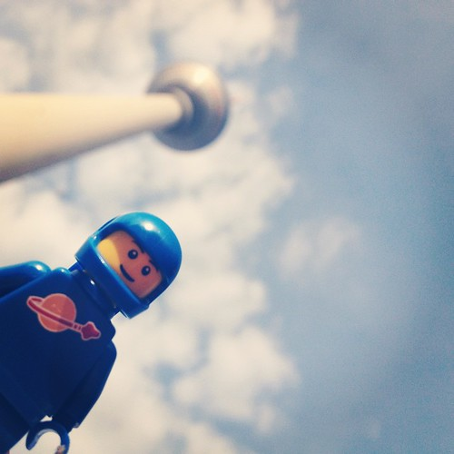 Spaceman at the TV tower