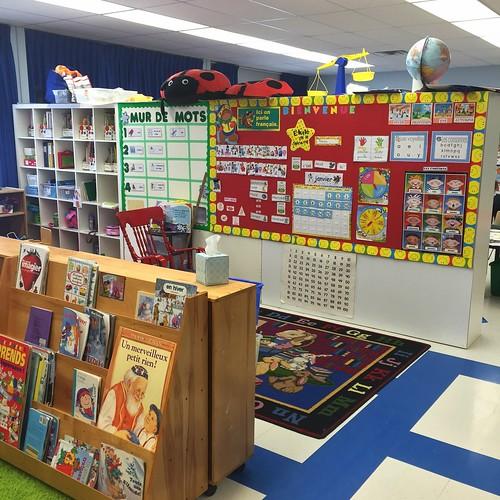 A peek inside a classroom, at Joan of Arc Academy