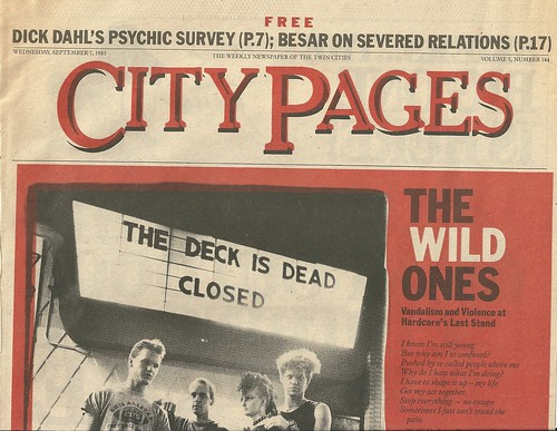 "09/07/83 City Pages ""The Wild Ones"" (1/8)"