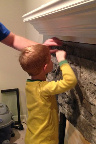 Update Tile Fireplace with AirStone Makeover