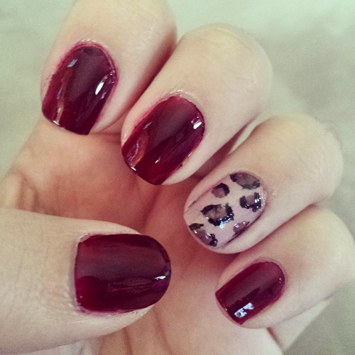 leopard mani