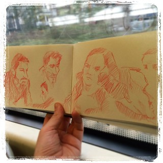 #urbansketch #uni #train #kurutoga #portraits