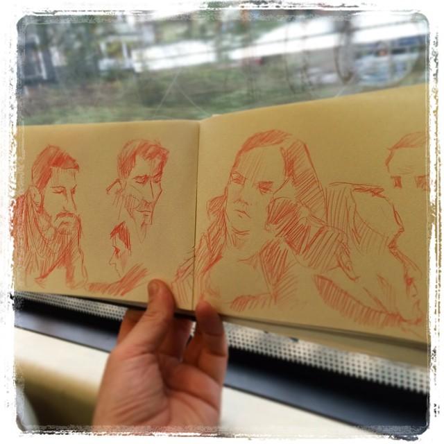 #urbansketch #uni #train #kurutoga #portraits