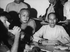 Saigon 1966 - Buddhist monks Phap Tri and Tam Chau