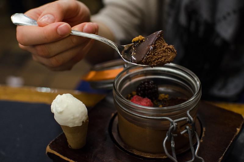 Mousse de chocolate - La Viña del Ensanche