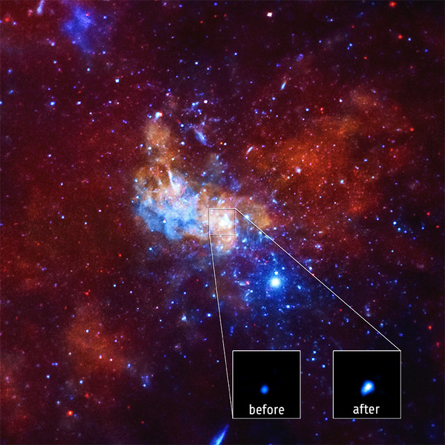 NASA's Chandra Detects Record-Breaking Outburst from Milky Way's Black Hole