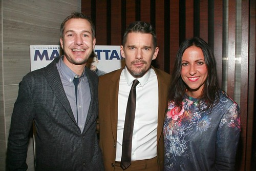 Tony Killeen, Ethan Hawke, Jennifer Goodwin==.Modern Luxery Manhattan Celebrates Cover with Ethan Hawke==.Park Hyatt, 153 West 57th Street, NYC.==.January 6, 2015==.©Patrick Mcmullan==.photo-Sylvain Gaboury/PatrickMcmullan.com==.==