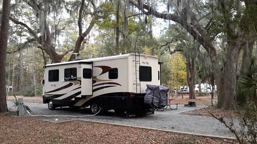 Charley's digs in James Island State Park just outside Savannah