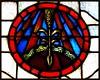 Former Epiphany Roman Catholic Church: Stained Glass Window, Stalk of Wheat--Detroit MI