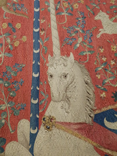 Detail from 'Lady with the Unicorn' tapestries at Musee de Cluny, Paris