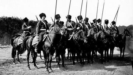 Soldados cosacos rusos